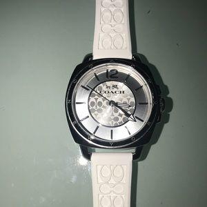 Coach white watch